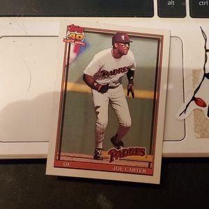 Joe carter baseball card